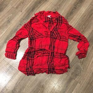 Liz Lange Maternity Plaid Shirt